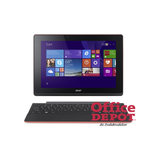 "Acer Aspire Switch SW3-013 10"" IPS/Intel Atom Z3735F 1,33GHz/2GB/64GB eMMC+500GB HDD/Win10 Home/piros 2in1 tablet"