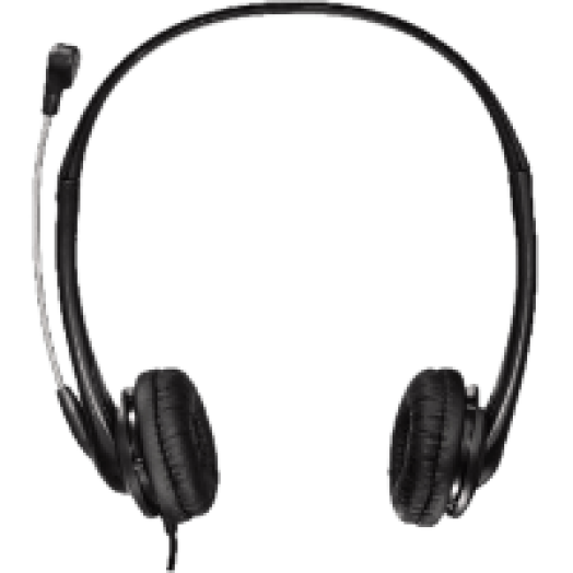 HS-260 fekete PC headset (53998)