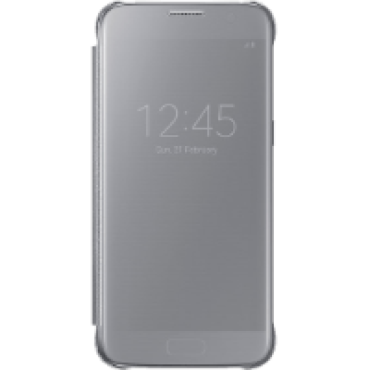 Samsung Galaxy S7 clear view cover tok ezüst