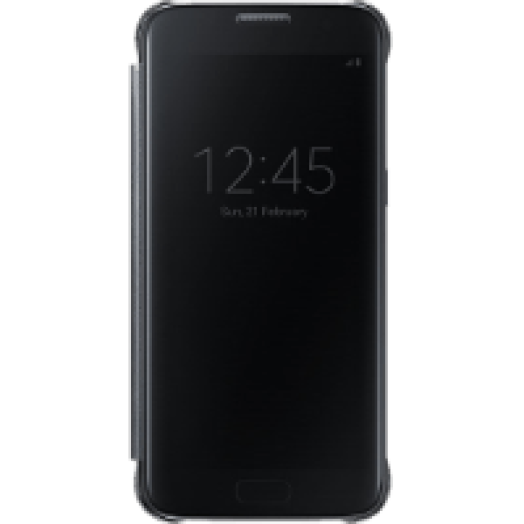 Samsung Galaxy S7 clear view cover tok kékesfekete