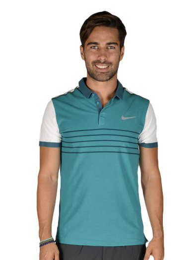 NIKE ADV PREM RF STRIPED POLO