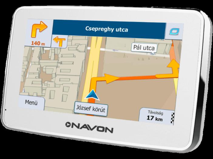 igo magyarország térkép NAVON N490 PLUS White navigáció + iGO Magyarország térkép   ár  igo magyarország térkép