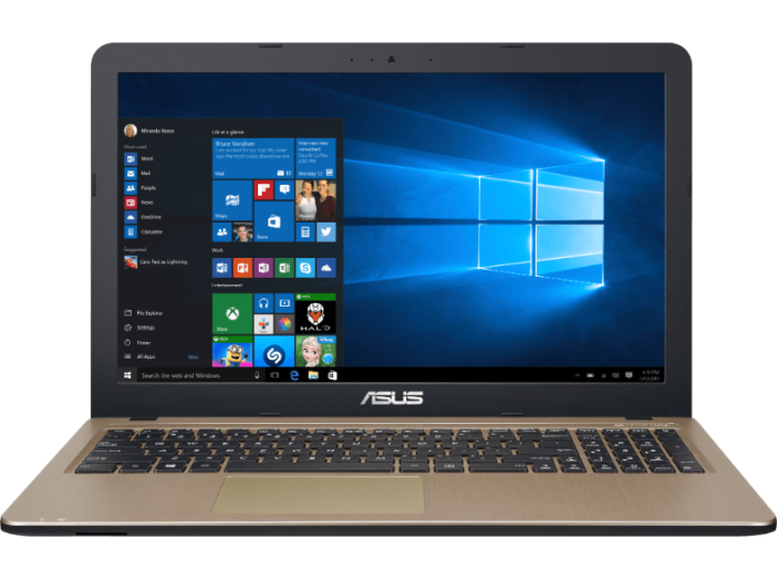 "X540-019 fekete notebook (15,6""/Core i3/4GB/500GB/Intel HD/Windows 10)"