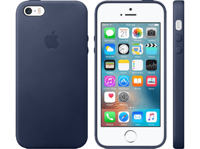 iPhone SE bőr tok midnight blue (MMHG2)