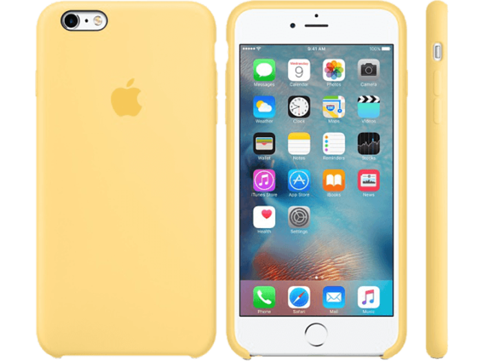 iPhone 6S Plus szilikon tok yellow (MM6H2)