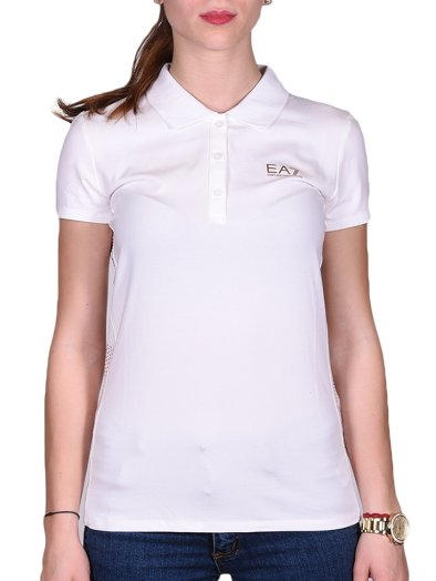WOMANS KNIT POLO   BLUEBERRY