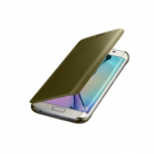 SAMSUNG EF-ZG925BFEGWW CLEAR VIEW COVER S6 EDGE GOLD