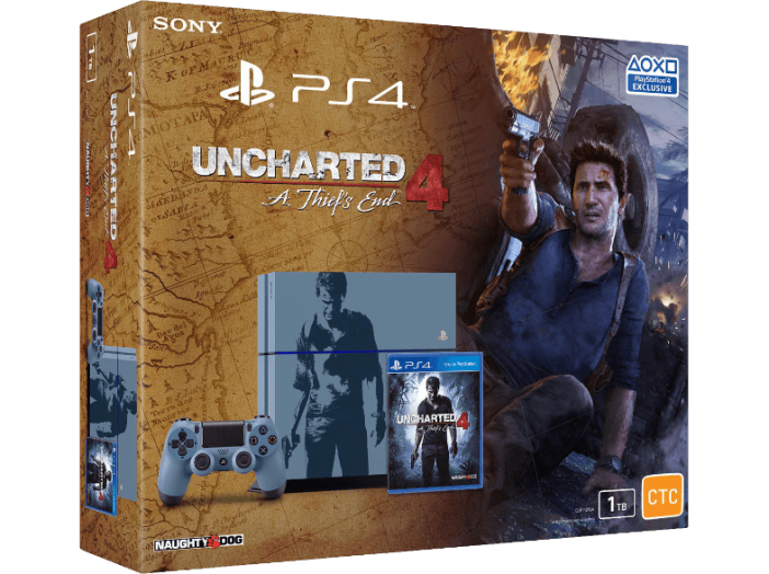 PS4 1TB + UNCHARTED 4 LIMITED ED