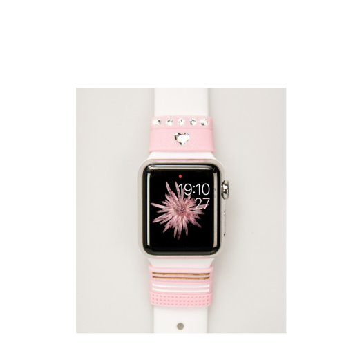 Bling My Thing - Allure Apple Watch 38/42mm szíjra húzható pánt - Kristály rózsaszín