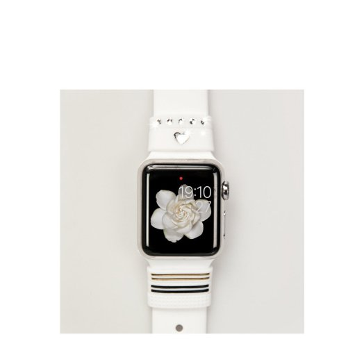 Bling My Thing - Allure Apple Watch 38/42mm szíjra húzható pánt - Kristály fehér
