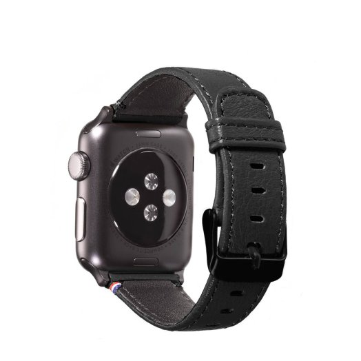 Decoded - Apple Watch 38mm bőrszíj - Fekete