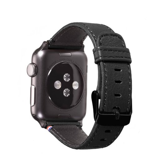 Decoded - Apple Watch 42mm bőrszíj - Fekete