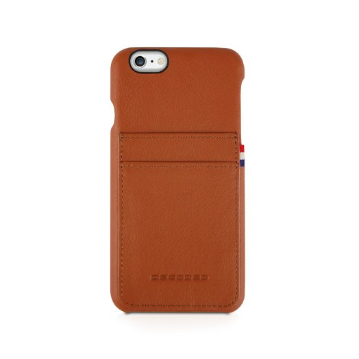 Decoded - Leather Back iPhone 6/6S tok - Barna