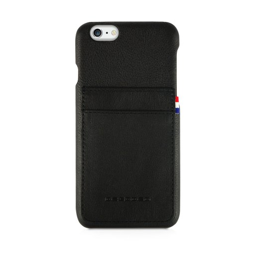 Decoded - Leather Back iPhone 6/6S Plus tok - Fekete