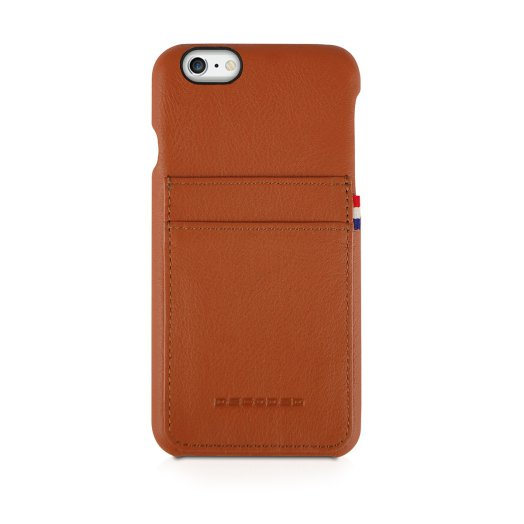 Decoded - Leather Back iPhone 6/6s Plus tok - Barna