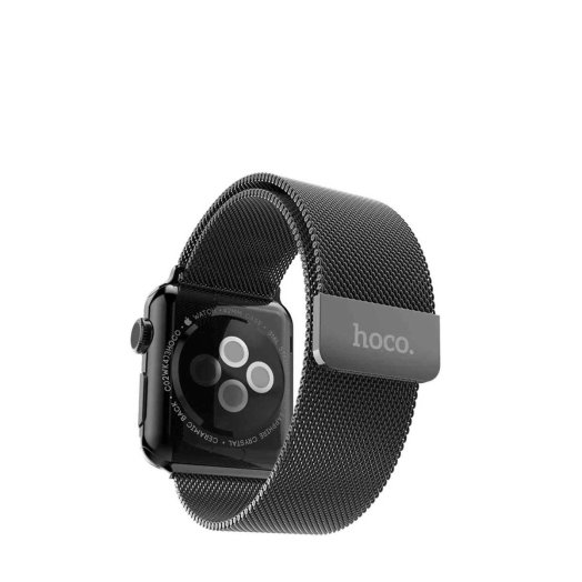 HOCO - Milanese Edition 316L Stainless Steel Apple Watch 38mm szíj  - Fekete