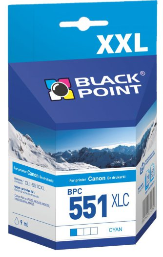 Black Point patron BPC551XLC (Canon CLI-551CXL) kék