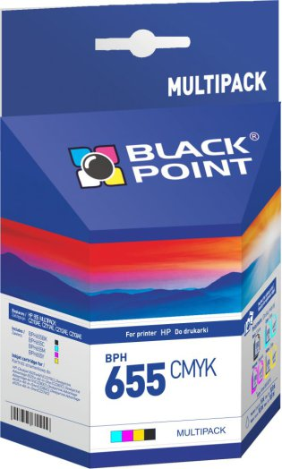 Black Point multipack BPH655CMYK (HP) 4 színű