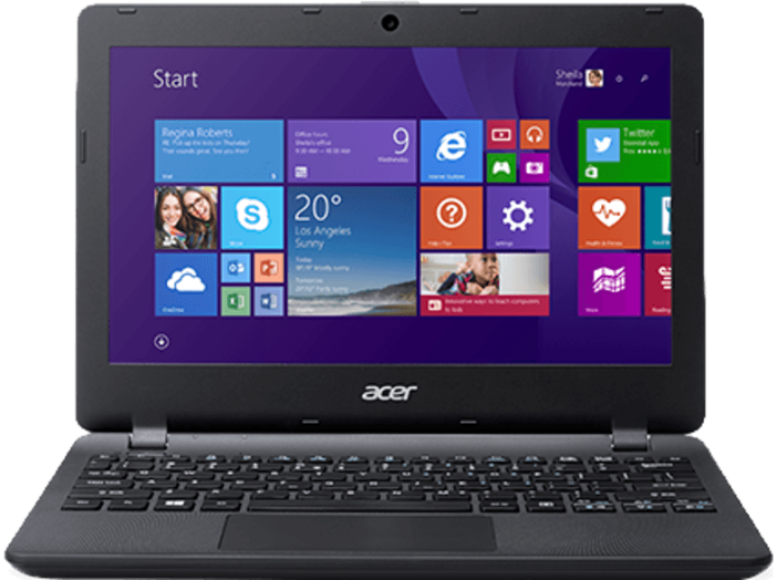 "Aspire ES1-131 fekete notebook NX.MYGEU.003 (11,6""/N3050/2GB/32GB/Windows 8)"