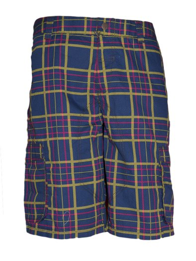 Mens Checked Cargo Shorts