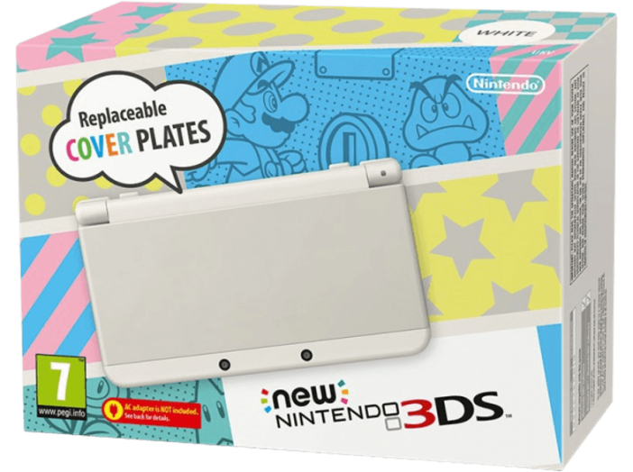 NEW NINTENDO 3DS WHITE + 4 NINTENDO SELECT GAME