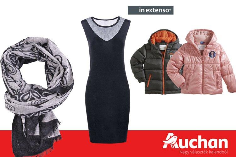 Akciós férfi, női és gyermek ruhák az Auchanban globalplaza