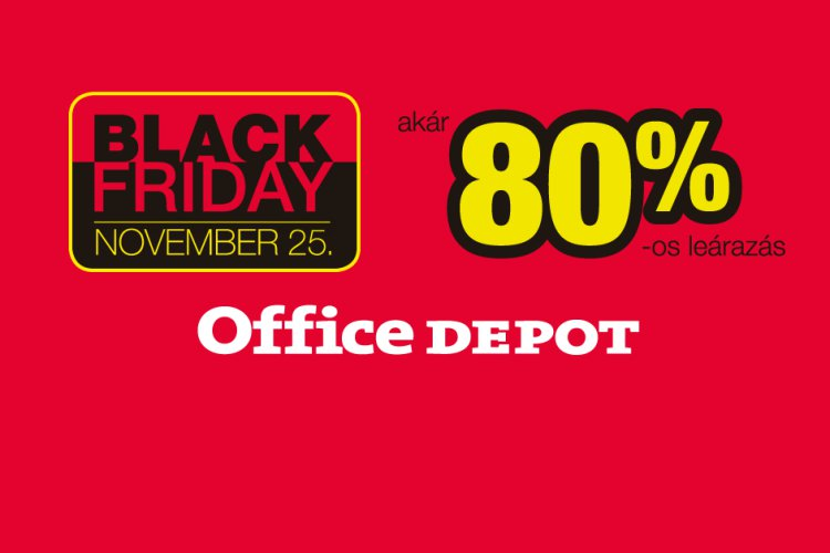 Black Friday Office Depot akció, akár -80%
