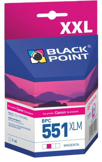 Black Point patron BPC551XLM (Canon CLI-551MXL) piros