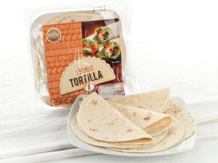 TESCO lágy tortilla