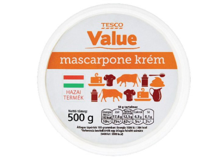 Value mascarpone krém