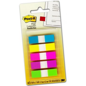 Post-it index 683-5CB 12x44mm 20címke 5db