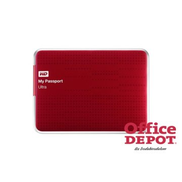 "Western Digital 2,5"" 2000GB külső USB3.0 piros My Passport Ultra Red winchester"