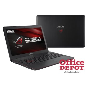 "ASUS ROG G551VW-FW278D 15,6"" FHD IPS/Intel Core i7-4750HQ/8GB/1TB/GeForce GTX 960M 4GB/DVD író/fekete Gamer notebook"