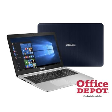 "ASUS K501LX-DM173D 15,6"" FHD/Intel Core i3-5010U/8GB/128GB+1TB/GeForce GTX 950M 2GB/sötétkék-ezüst slim notebook"