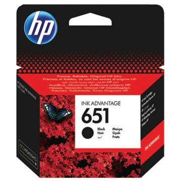HP 651 Black Ink Cartridge fekete