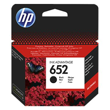HP 652 Ink Advantage patron fekete
