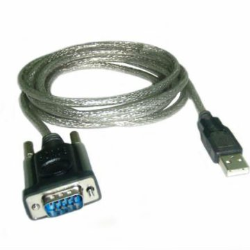 USB to RS-232 adapter kábel 0,35 m, ezüst-fekete