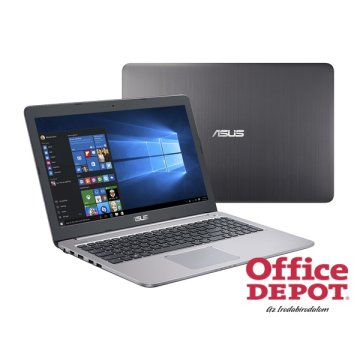 "ASUS K501UX-DM165D 15,6"" FHD/Intel Core i7-6500U/8GB/128GB+1TB/GeForce GTX 950 2GB/szürke notebook"
