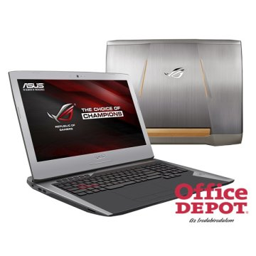"ASUS ROG G752VY-GC343T 17,3"" FHD/Intel Core i7-6700HQ/16GB/1TB/GeForce GTX 980M 4GB/Win10/DVD író/ezüst Gamer notebook"