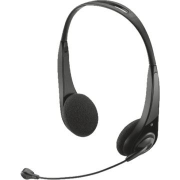 InSonic Chat fekete mikrofonos headset (15481)