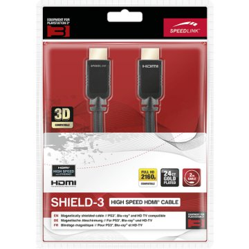 PlayStation 3 SHIELD-3 High Speed HDMI kábel, Ethernet, 2 m