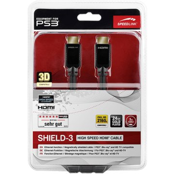 PlayStation 3 SHIELD-3 High Speed HDMI kábel, Ethernet, 3 m