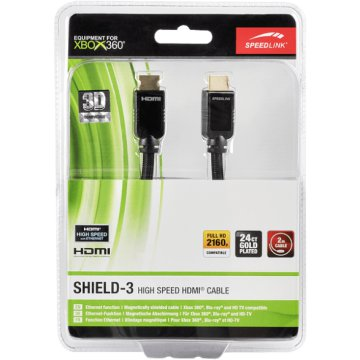 Xbox 360 SHIELD-3 High Speed HDMI kábel, Ethernet, 2m