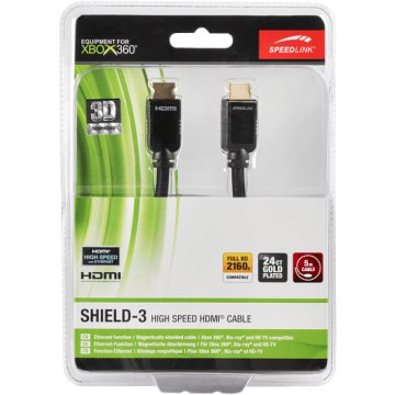 Xbox 360 SHIELD-3 High Speed HDMI kábel, Ethernet, 5m