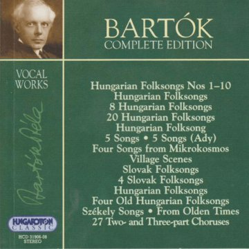Bartók Complete Edition - Vocal Works CD