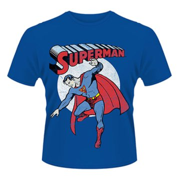 Superman - Vintage Image T-Shirt L