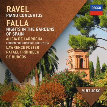 Ravel - Piano Concertos / Falla - Nights In The Gardens of Spain CD