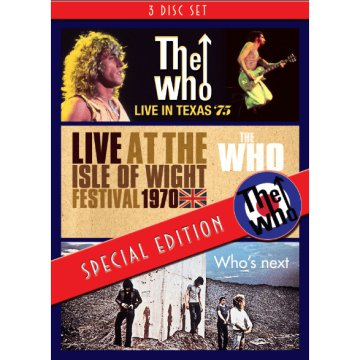 Live In Texas '75 - Live At The Isle Of Wight Festival 1970 - Who's Next DVD
