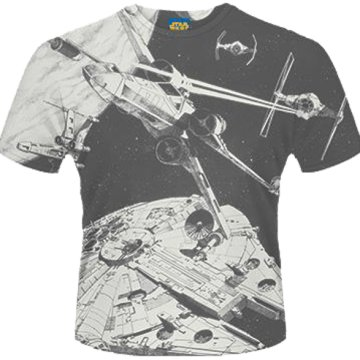 Star Wars - Space Battle (Dye Sub) T-Shirt L