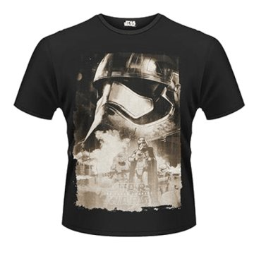 Star Wars The Force Awakens - Captain Phasma Poster T-Shirt M